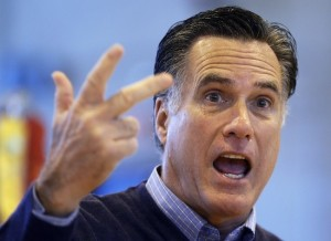 Republican presidential candidate Romney speaks a Republican Caucus in Sanford