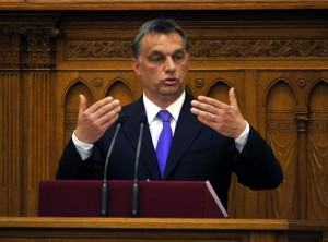 Hungarian Prime Minister Viktor Orban speaks
