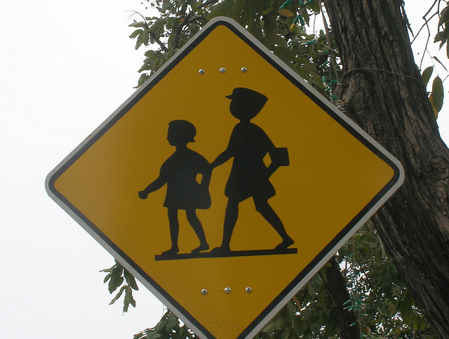 Cambodian School crossing sign