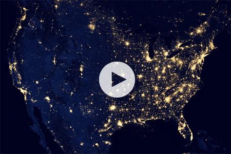 Σε βίντεο της NASA, η νυχτερινή εικόνα της Γης από το Διάστημα