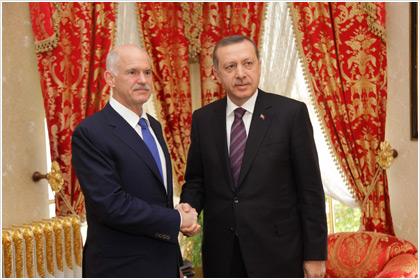 Συνάντηση Ερντογάν-Παπανδρέου