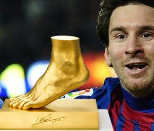 Χρυσό πόδι του Μέσι αξίας 4 εκατ. ευρώ