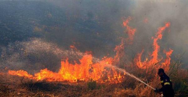 Πυρκαγιά στη χωματερή Καλυβίων