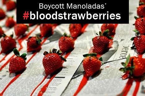 Διεθνές μποϊκοτάζ : «Δεν αγοράζουμε ματωμένες φράουλες»