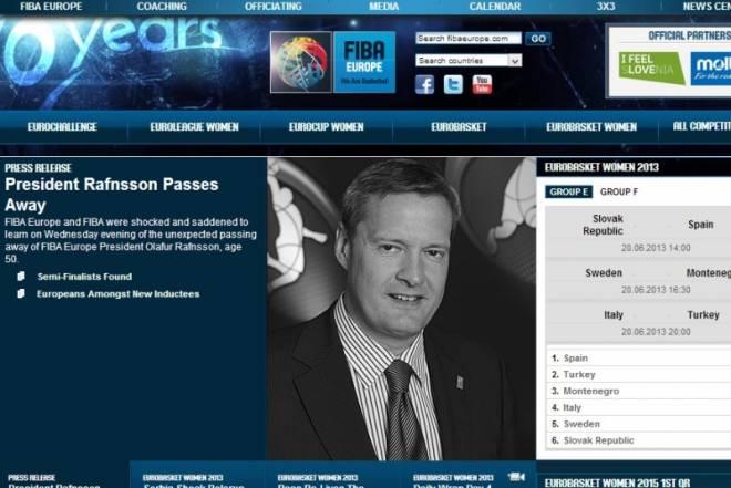 Νεκρός ο πρόεδρος της FIBA Europe