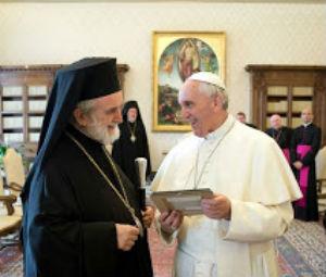 «Ανοιγμα» του Πάπα Φραγκίσκου προς την Ορθόδοξη Εκκλησία