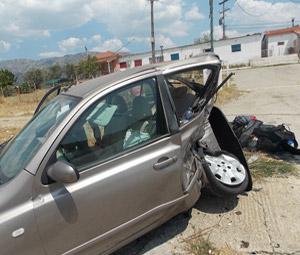 Σύγκρουση αυτοκινήτων στο Αγρίνιο
