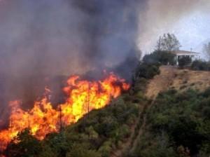 Πυρκαγιά στα Κύθηρα