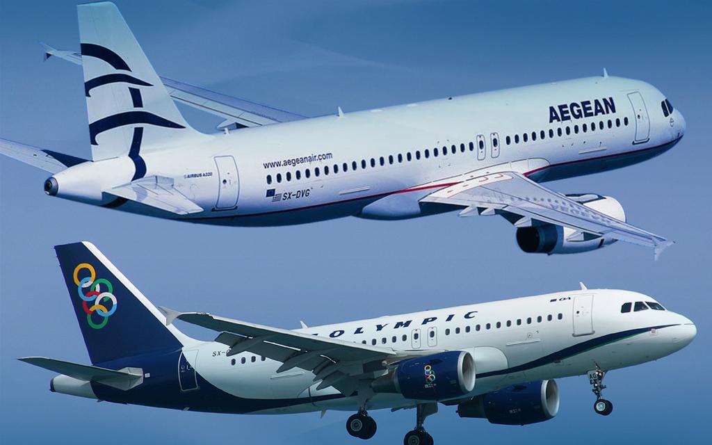 Περισσότερα οφέλη για τους επιβάτες μετά τη συγχώνευση Aegean-Olympic