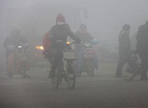 Μία πόλη βυθισμένη στην αιθαλομίχλη