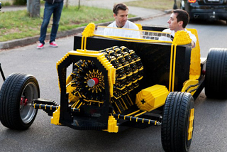 Αυτοκίνητο ...αεροκίνητο από τουβλάκια Lego