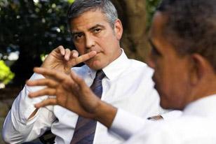 Ο Κλούνεϊ παρουσίασε στον Ομπάμα το «Μνημείο Ανδρών»