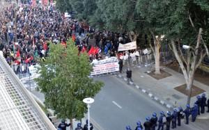 Ένταση έξω από την κυπριακή Βουλή