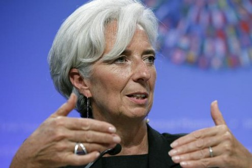 Lagarde Christine  IMF Managing Director speaks