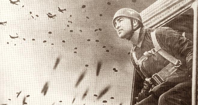 Γερμανός στρατιώτης πηδάει από το… μπαλκόνι του ουρανού