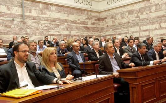 Αποχώρησε από την Ολομέλεια της Βουλής η Δημοκρατική Συμπαράταξη