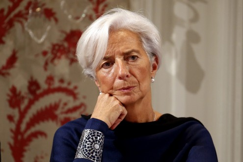 IMF President Lagarde attends a conference of central bankers hosted by the Bank of France in Paris