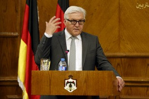 German Foreign Minister Frank-Walter Steinmeier speaks during a joint news conference in Amman