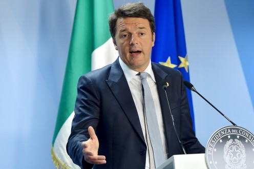 Italy's PM Renzi holds a news conference at the European Council headquarters after a European Union leaders summit in Brussels, Belgium