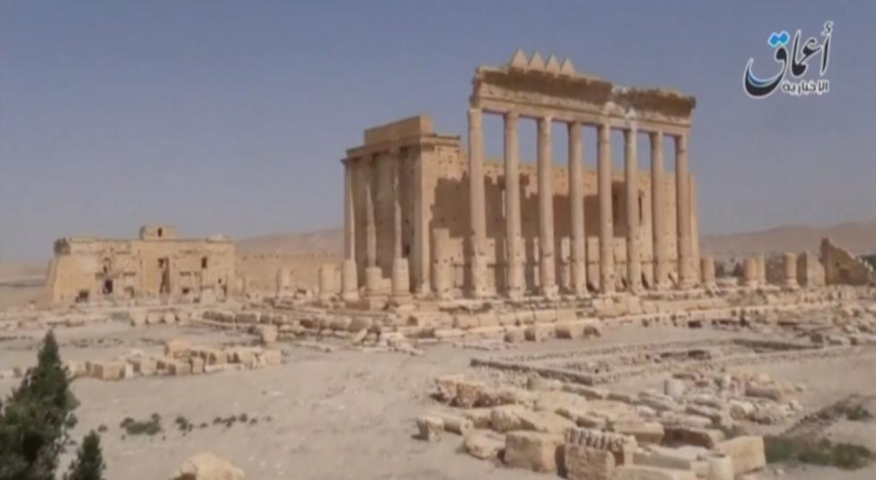 A view of Palmyra Castle is seen in this still image from video