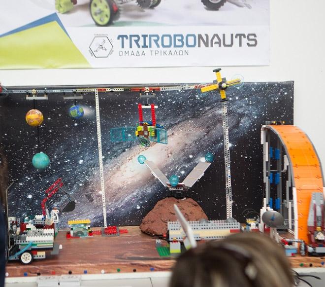 Η ρομποτική κατασκευή της ομάδας TriRoboNauts, 2η θέση