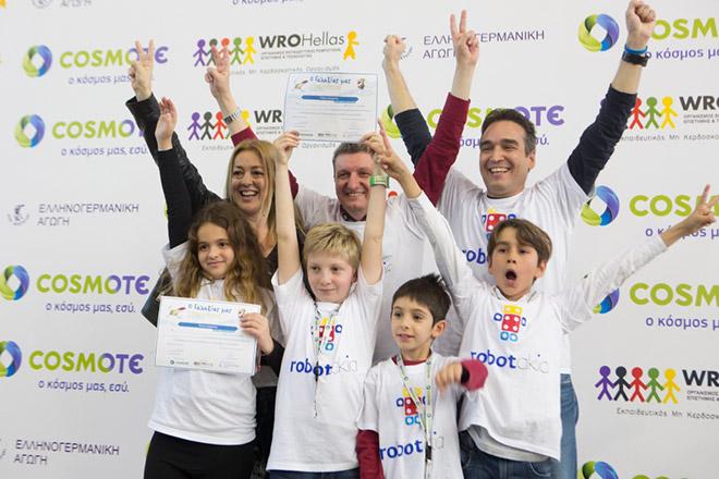 Η ομάδα Robotakia - νικητές του 2ου Πανελλήνιου Διαγωνισμού Εκπαιδευτικής Ρομποτικής