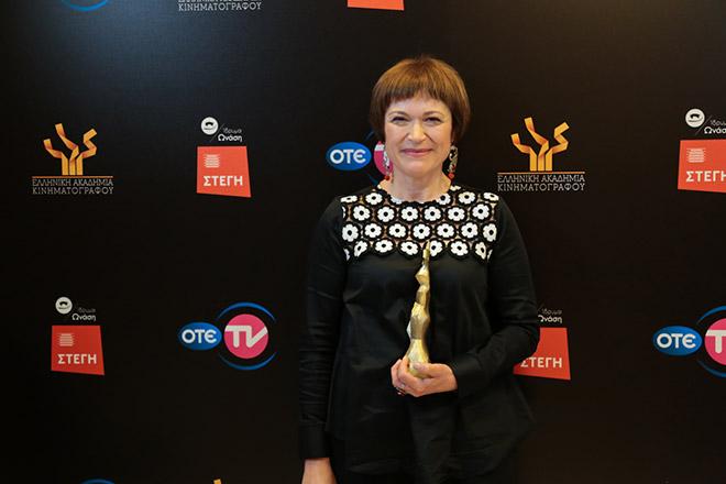 Η Βαγγελιώ Ανδρεαδάκη, που κέρδισε το βραβείο Α' Γυναικείου ρόλου