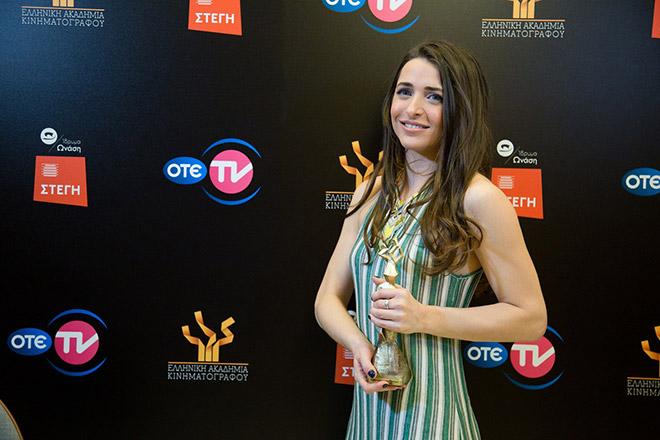 Η νικήτρια του βραβείου Β' Γυναικείου Ρόλου Βασιλική Τρουφάκου