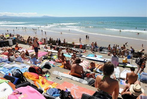 Holidaymakers enjoy French summer holidays