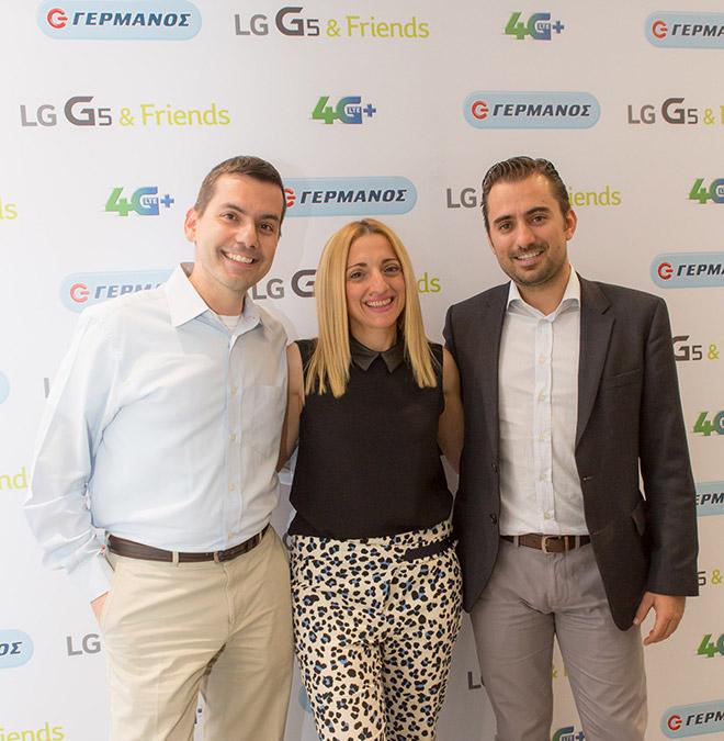 (από αριστερά) Ο Δημήτρης Βάθης, Διευθυντής Πωλήσεων Κινητής LG, η Τζώρτζια Σταυροπούλου, Corporate & Business Units Marketing Manager LG και ο Χριστόφορος Μποζατζίδης, Υποδιευθυντής Channel Marketing Ομίλου ΟΤΕ