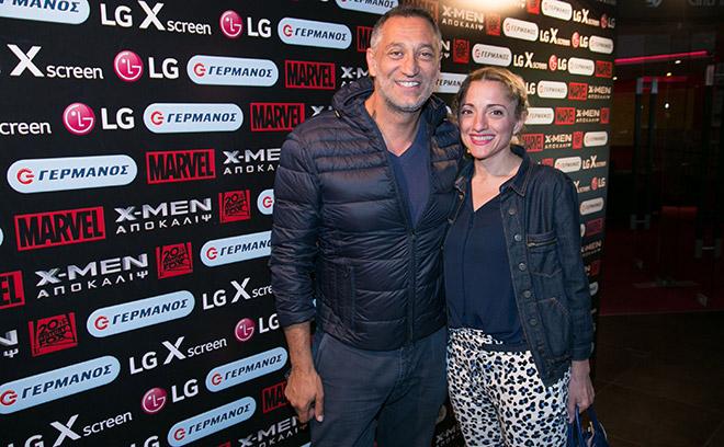 Ο Γιώργος Ντάβλας με την Τζώρτζια Σταυροπούλου, Corporate & Business Units Marketing Manager LG