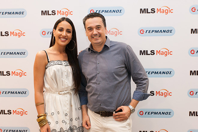 Ο Στάθης Κυριακόπουλος, Εμπορικός Διευθυντής της MLS, με την Μαλού Κυριακοπούλου