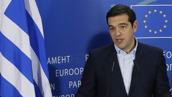 Greek Prime Minister Alexis Tsipras at EU Parliament