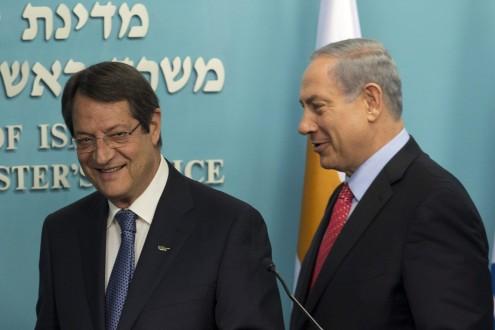 President of Cyprus Nicos Anastasiades meets with Israeli Prime Minister Benjamin Netanyahu