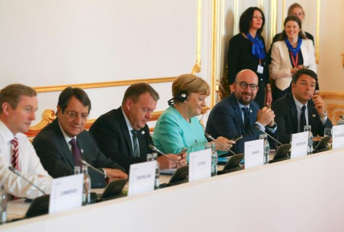 EU leaders attend the European Union summit in Bratislava