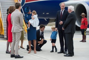 Duke of Cambridge, Duchess of Cambridge, Prince George, Princess Charlotte, Justin Trudeau, David Johnston