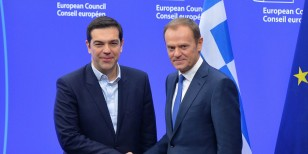 Alexis Tsipras - Donald Tusk in Brussels