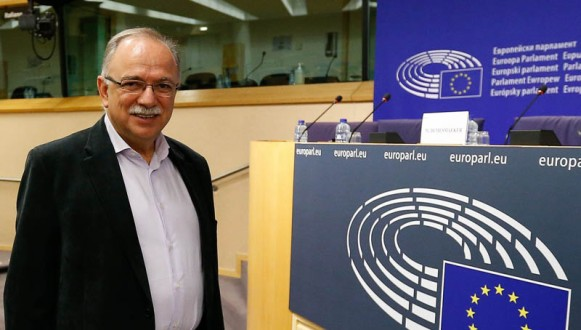 Greek Labour Ministry George Katrougalos in Brussels