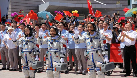 Chinese astronauts start a 15-day space mission.