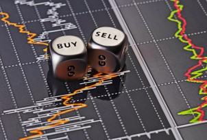 Dices Cubes To Trader. Cubes With The Words Sell Buy On Financia