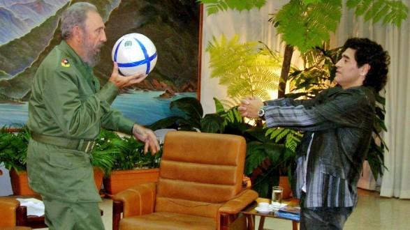 Fidel Castro with Diego Maradona