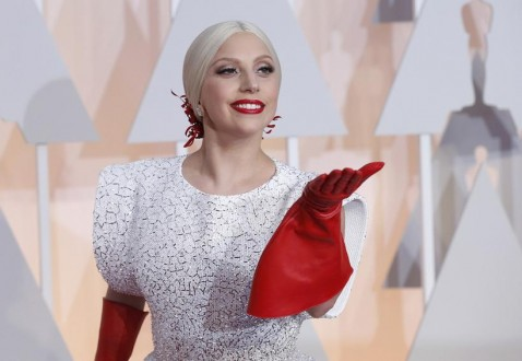 Singer Lady Gaga arrives at the 87th Academy Awards in Hollywood