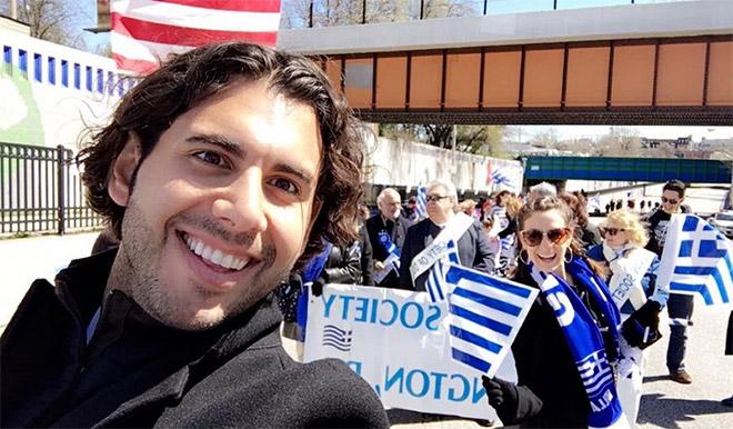 Ο Χρήστος Μαραφάτσος στις εκδηλώσεις για την επέτειο της Εθνικής Παλιγγενεσίας 25η Μαρτίου (φωτ. από το προφίλ του στο fb)