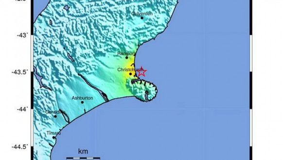 5.8 magnitude earthquake near Christchurch