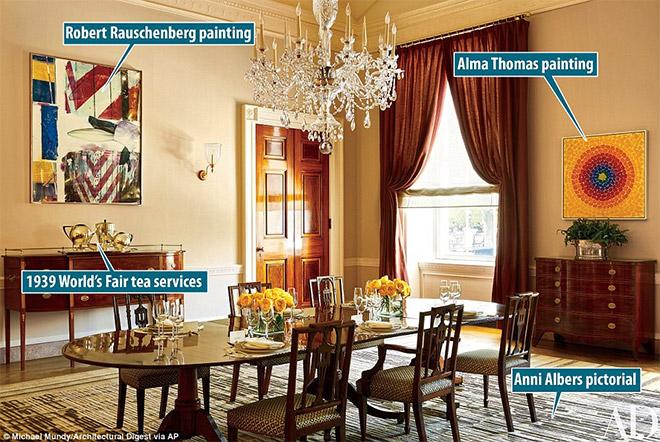 Αυτή η φωτογραφία δείχνει την Παλιά Οικογενειακή Τραπεζαρία του Λευκού Οίκου στην Ουάσινγκτον.