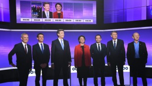 French left's presidential candidates debate