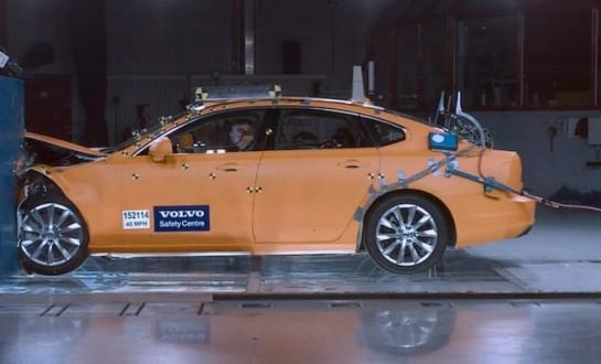 Volvo S90 IIHS Small Overlap Crash Test