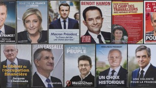 French presidential election campaign posters