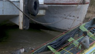 Ferry boat accident in Chindwin river