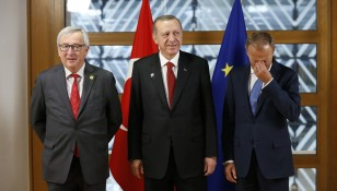 Turkish President Erdogan at the European Council in Brussels